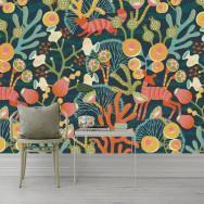 Borastapeter Koralläng Wallpaper - Mural