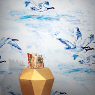 Feathr Le Voyage Goose Wallpaper by Claire de Quenetain