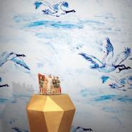 Feathr Le Voyage Goose Wallpaper by Claire de Quenetain
