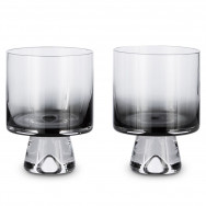 Tom Dixon Tank Low Ball Glasses x2 - Black