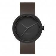 LEFF amsterdam Tube Watch D-Series black / brown leather strap by Piet Hein Eek