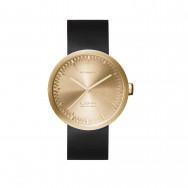 LEFF Amsterdam Tube Watch D-Series Brass / Black leather strap by Piet Hein Eek