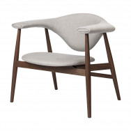 Gubi Masculo Lounge Chair - Fully Upholstered, Wood Base