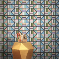 Feathr Match Geometric Wallpaper by Peter Judson