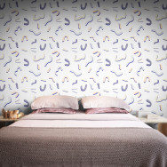 Feathr Memphis Bound Wallpaper by Sanne Sofia