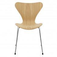 Fritz Hansen Series 7 Chair, Clear Lacquer