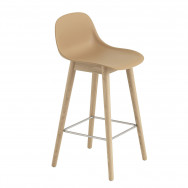 Muuto Fiber Wood Base Bar Stool - 65cm