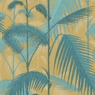 Cole and Son Palm Jungle Fabric - Linen Union