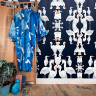 Badgers of Bohemia - Blue Plumes Wallpaper