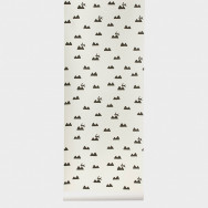 Ferm Living Rabbit Wallpaper-Off-White