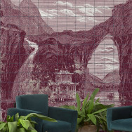 Coordonne Illustration Tiles Mural Wallpaper
