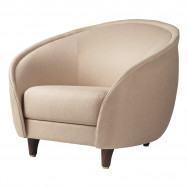 Gubi Revers Lounge Chair - Fully Upholstered, Wood Base-Dedar Sinequanon-029- American Walnut Base