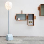 Vertigo Bird Smoke House Floor Lamp - Blue