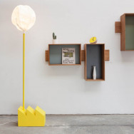 Vertigo Bird Smoke Factory Floor Lamp - Yellow