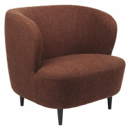 Gubi Stay Lounge Chair - Large with Wooden Legs