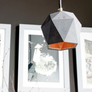 GANTlights T2 Concrete Pendant Light- Dark Grey