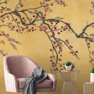 Feathr Takeda Metallic Mural Wallpaper