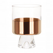 Tom Dixon Tank Low Ball Glasses x2 - Copper