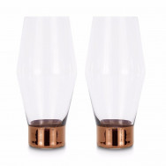 Tom Dixon Tank Beer Glasses x2 - Copper