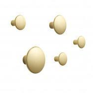 Muuto The Dots Brass Coat Hooks - Set of 5