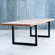 Heerenhuis Tube 6cm Oak Dining Table MTM