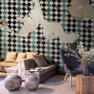Coordonne Tiles Broken Wall Mural Wallpaper