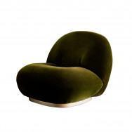 Gubi Pacha Lounge Chair - Swivel Base