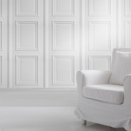 Mineheart White Panelling Wallpaper