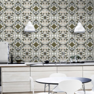 Mind The Gap Organic Tile Wallpaper