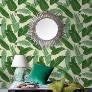 Mind The Gap Banana Leaves Wallpaper