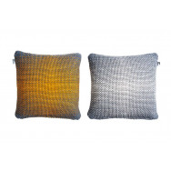 Simon Key Bertman Textile Design & Art -2-Sided Gradient Cushion Cover -Yellow/Grey
