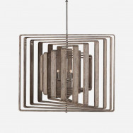 Andrew Martin Brushed Wood Zachary 11 Ceiling Spiral Light