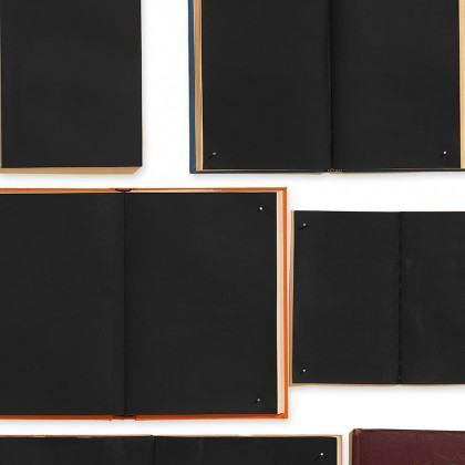 NLXL Biblioteca Wallpaper Black Books by Ekaterina Panikanova - EKA-06
