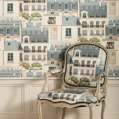 Manuel Canovas The Roofs of Paris Wallpaper