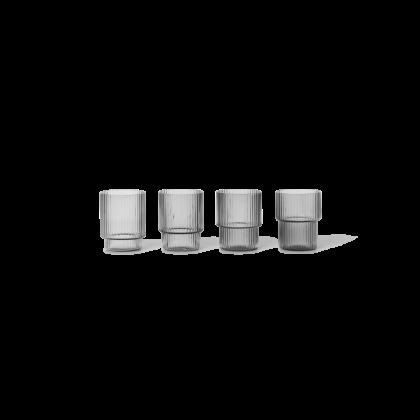 Ferm Living Ripple Small Glass - Set of 4
