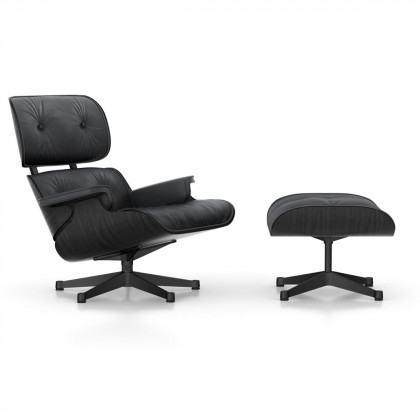 Vitra Eames Lounge Chair - Black Ash (Coated Base)