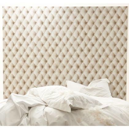 Natural Linen Chesterfield Wallpaper
