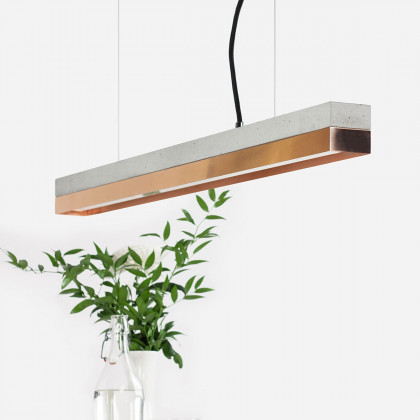 GANTlights C Concrete Pendant Light - Copper (Various Sizes)