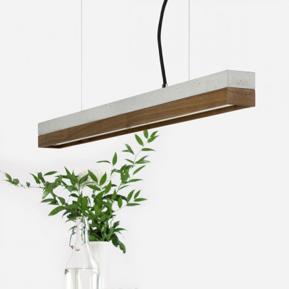 GANTlights C Concrete Pendant Light- Walnut (Various Sizes)