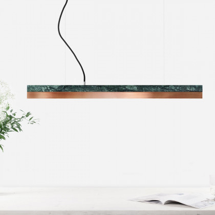 GANTlights C2 Light Verde Guatemala Marble Pendant Light - Various Materials ( 92cm )