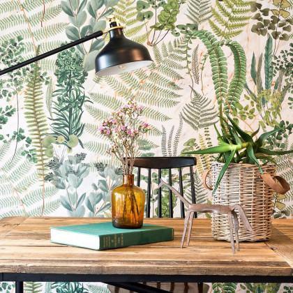 Mind The Gap Sanctuary Floral Wallpaper-Green
