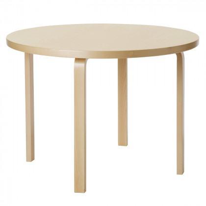 Artek 90A Aalto Round Dining Table