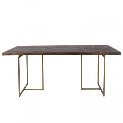 Dutchbone Class Wood and Brass Dining Table