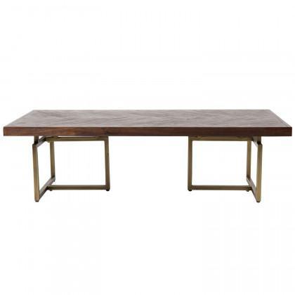 Dutchbone Class Wood and Brass Coffee Table