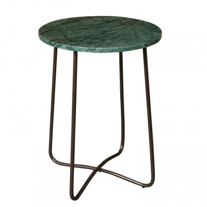 Dutchbone Round Emerald Marble Side Table