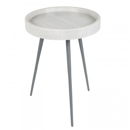 Zuiver Karrara Marble Side Table - White