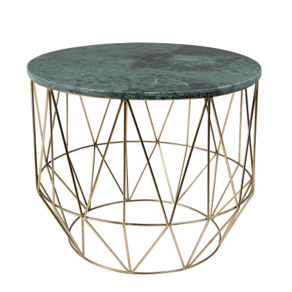 Dutchbone Boss Green Marble Side Table
