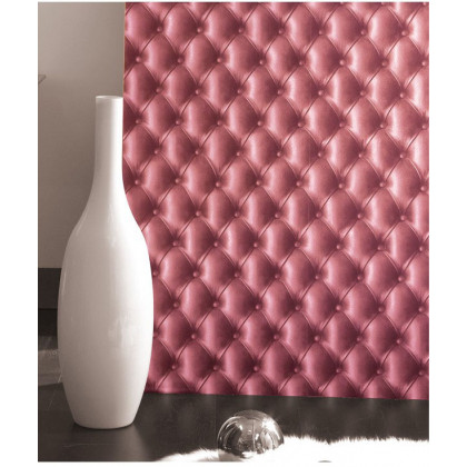 Pink Leather Chesterfield Wallpaper