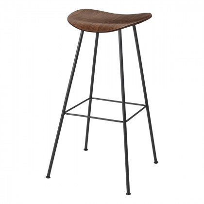 Gubi 2D Bar Stool - Un-Upholstered, 75, Center Base