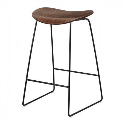Gubi 2D Counter Stool - Un-upholstered, 65, Sledge Base